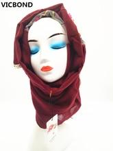 ФОТО vicbond hot sale optional colour hollow flower lace cotton scarf shawl pashmina women muslim hijab fashion soft 10pcs/
