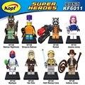 Building Blocks Super Heroes Star Wars Figures Simpsons Batman Nightmare Rocket Jessica Indiana Jones Mystique Kids Toys KF6011