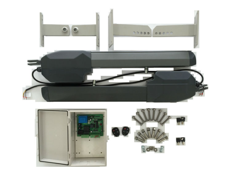 Premium stainless steel single swing gate opener motor kit for Electric motor for gates price