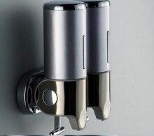 150mlX2 silber farbe Doppel seifenspender mit schloss und druck für haar und körper Shampoo Dispenser