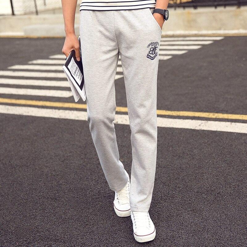 Uwback Mens Sweatpants Lightweight Casual Pants Embroidery Plus Size 4XL Trousers Homme Elastic Waist Long B&F Sweat Pant XA619