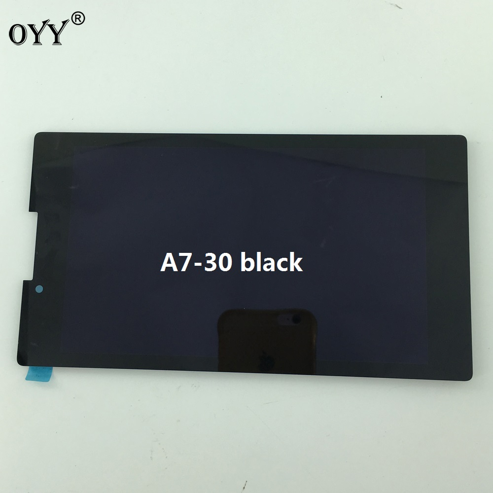 Full LCD Display + Touch Screen Digitizer Glass Assembly Replacement Parts For Lenovo Tab 2 A7-30 A7-30DC for lenovo miix 2 8 tablet pc lcd display touch screen digitizer replacement with frame