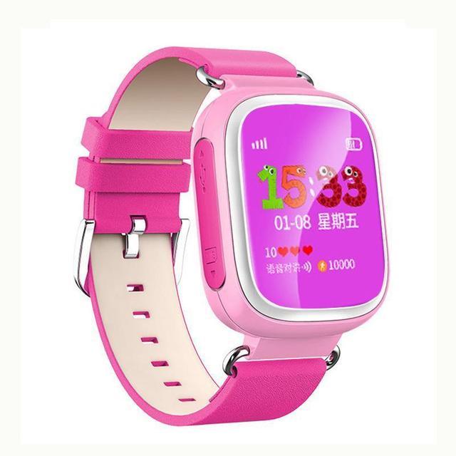 Милый Малыш GPS Смарт-Наручные Часы-Телефон SOS Вызова Расположение Борьбе Потерянный Трекер Девы Розовый Студент Smartwatch Led Sprots Дети Часы