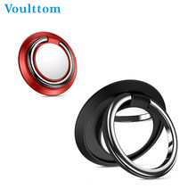 Voulttom Magnetic Finger Ring Holder For iPhone X 8 7 Samsung S9 S8 Tablet Mobile Phone Magnetic Car Phone Holder Metal Stand(China)