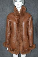 Clearance woman genuine real natural sheepskin lambskin leather wool fur coat shearing jacket for female winter warm clothing