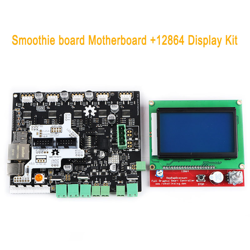 Smoothieboard 5X V1.1 Motherboard with 12864 LCD Display Kit for CNC 3D Printer EM88Smoothieboard 5X V1.1 Motherboard with 12864 LCD Display Kit for CNC 3D Printer EM88