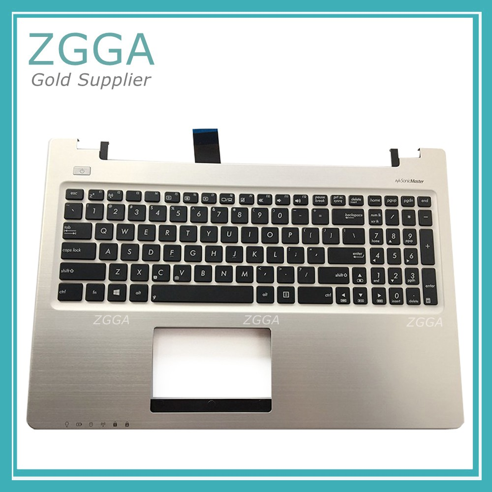 NEW Russian Layout Keyboard for ASUS K56 K56C K56CA K56CM Palmrest With RU Laptop Keyboads Upper Case Shell Champagne Silver swsiss layout new laptop keyboard with touchpad palmrest for samsung np rc530 rc528 ba75 03202m