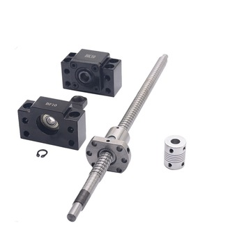 SFU1204 set:SFU1204 L-300mm rolled ball screw C7 with end machined + 1204 ball nut + BK/BF10 end support + coupler for CNC parts