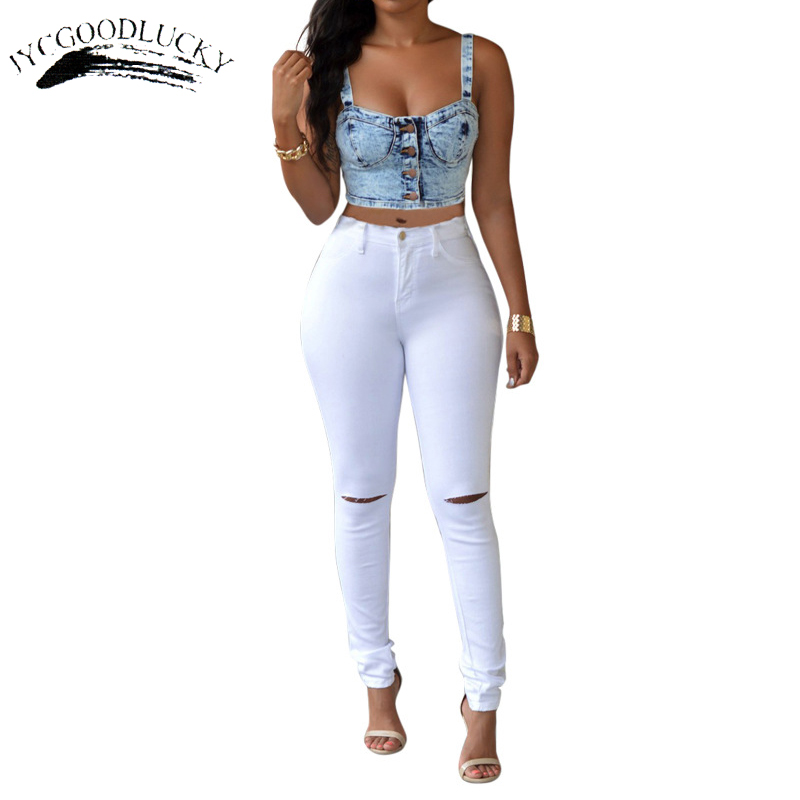 Ripped   Jeans   For Women With High Waist 2017   Jeans   Woman Slim Tight Skinny Women   Jeans   Female Hot Plus Size Women Clothing Pants