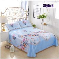 free shipping new comer summer cool bed mat softe ice feel bedspreads set print summer mattress mat bed cover set for 1.8/2m bed
