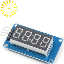 TM1637 LED Display Module For Arduino 7 Segment 4 Bits 0.36 Inch Clock RED Digital Tube Four Serial Driver Board Pack Connector(China)