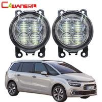 Cawanerl For 2004 2013 Citroen C4 Car Front LED Lamp Fog Light Angel Eye Daytime Running Light DRL 12V Accessories 2 Pieces