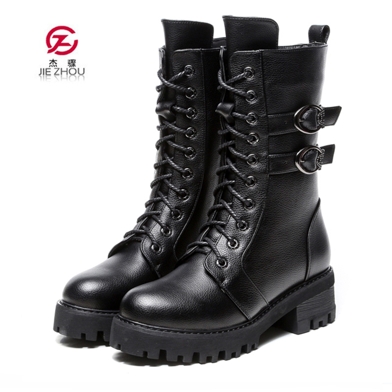 Genuine leather women martin boots winter warm shoes botas feminina female motorcycle boots fashion boots women botas mujer flat with genuine leather women martin boots winter warm shoes botas feminina female motorcycle ankle fashion boots women botas