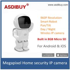 960P HD Wireless mini Robot Camera Baby Monitor WIFI Camera Pan-Tilt Home Security IP Camera Night Vision CCTV Camera kids toy wanscam hw0021 hd 720p wireless wifi ip camera baby monitor ir night vision built in mic pan tilt for android