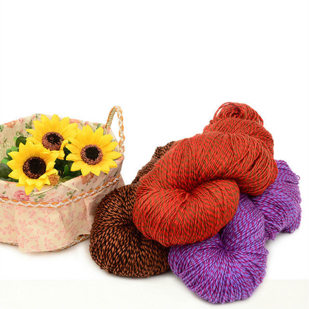 250g Acrylic Wool Coarse Lines Soft Polyester Hand-knit Yarn Crochet Scarves And Shoes Wool fancy Yarn Ball Line 20 Colors