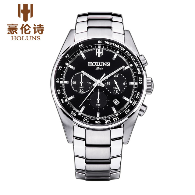 65de65f1ffb5 SS001 HOLUNS Reloj de Ginebra Marca Reloj de los hombres del Cronógrafo del  reloj multifunción de