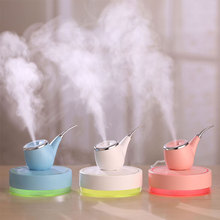 110mL Smoke Pipe Humidifier Exotic Night Light USB Home Mini LED Light USB Smoke Pipe Humidifier for Office Room Car