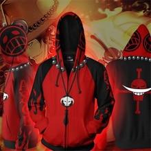 Anime ONE PIECE Hoodie Men and Women Zipper Hoodies Luffy 3d Print Hooded Jacket for Boys Zoro Harajuku Streetwear Cosplay