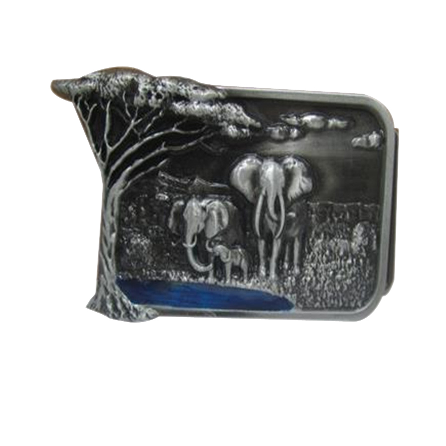 Forest elephants buckles mens designer belt buckles metal for Clothing, jeans, women dress, skirt, girls clothes, Kid clothes