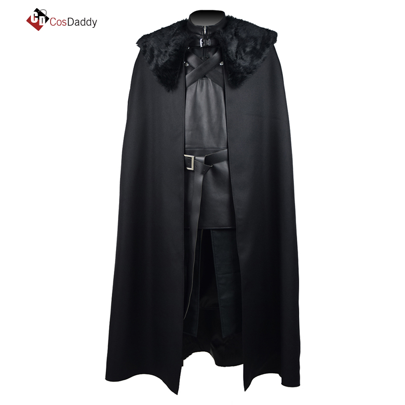 Jon Snow cosplay costume trench black brand CosDaddy