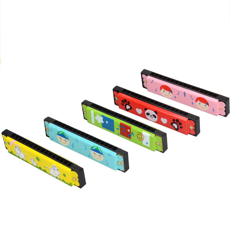 2019 EducationaSwan Harmonica 16 Holes Hooter Bugle Educational Toy Gift For Kids  High Quality Montessori Toy   7.11