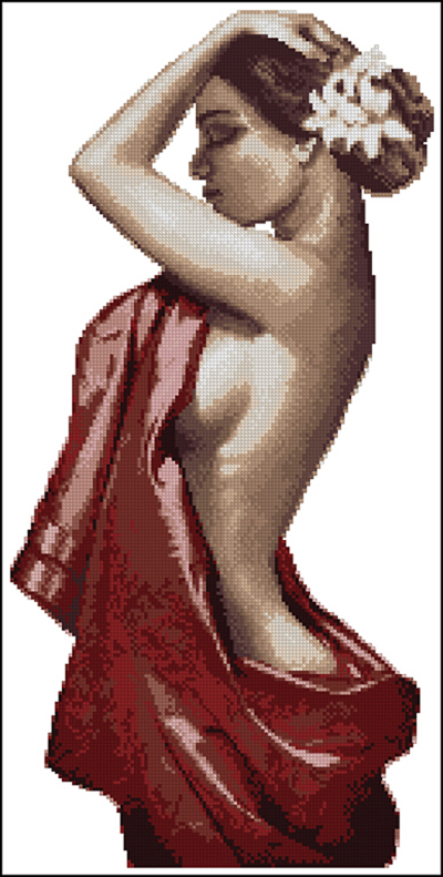 Needlework,DIY Cross Stitch,Sets For Embroidery Kits,14CT&16CT&18CT,Sexy Woman