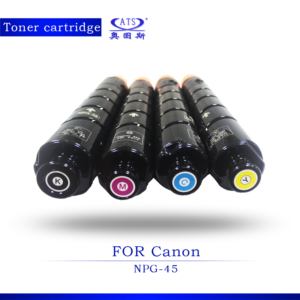 ФОТО 1PCS BK960G CMY590G Photocopy machine Toner Cartridge For Canon Compatible NPG45 ADVC IR5051 IR5045 Copier Parts C5051 C5045