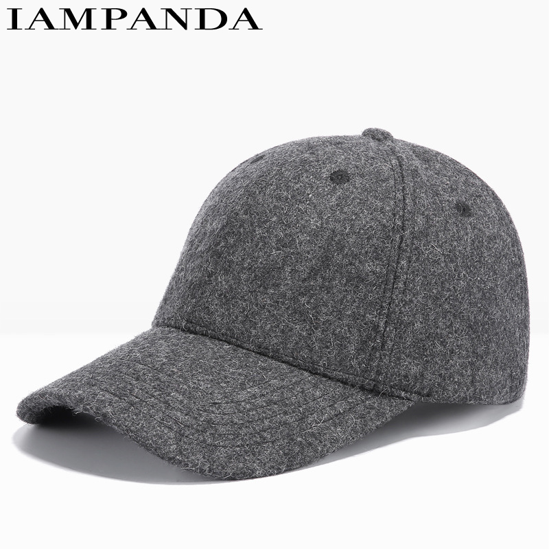 Iampanda New Brand 2017 Men's Baseball Caps In The Fall And Winter Outdoor Leisure Warm Han Unisex Fashion Snapback Hats For brand new smt yamaha feeder ft 8 2mm feeder used in pick and place machine