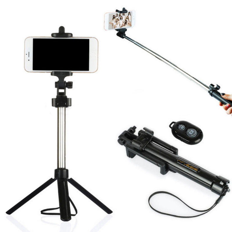 High Quality Extendable Selfie Stick Tripod Remote Bluetooth Shutter for Android IOS System with Remote Controller