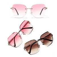 Frameless sunglasses women Europe and the United States retro borderless glasses 2019 new sunglasses
