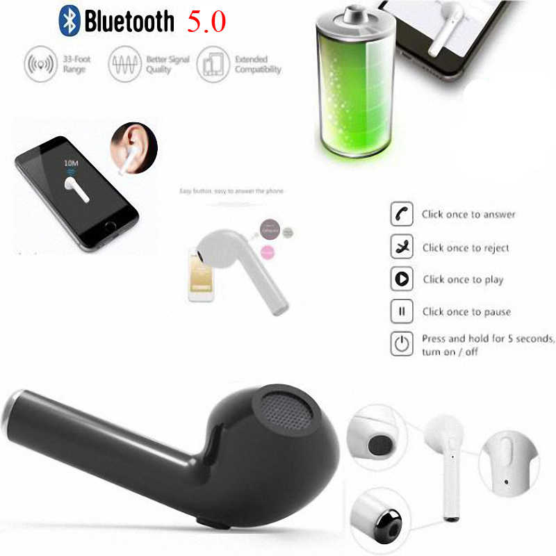 Top Selling i7s TWS Mini Wireless Bluetooth Earphone In-Ear Stereo Earbud Headset with Charging Box Mic For All Smart Phone
