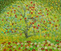 Famous Oil Painting The Apple Tree Gustav Klimt Reproductions Canvas Art High Quality Hand Painted