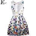 KEAIYOUHUO 2017 Girls Dress Print Sleeveless Dresses For Girls Children Clothing Summer Girls Clothes Costume For Kids Vestidos