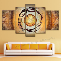 5 Piece Canvas Art Modern Abstract Huge Wall Art Oil Painting On Canvas