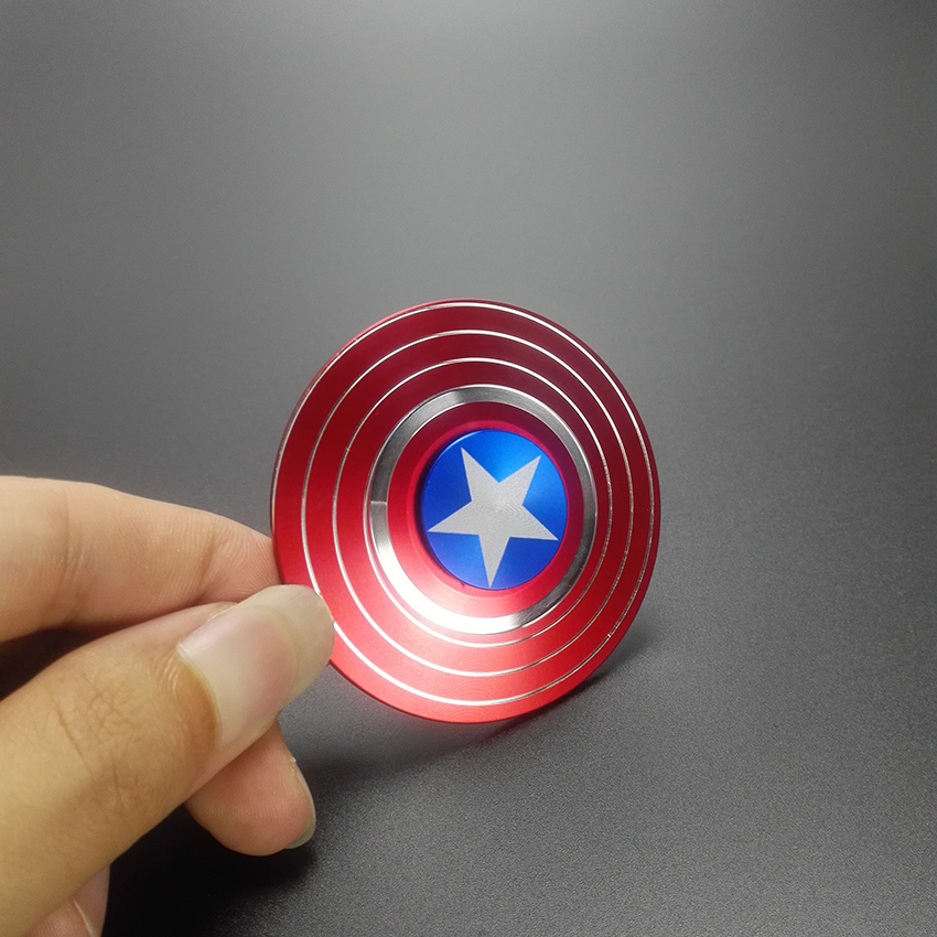 Plastic US captain Fidget Hand Spinner Finger EDC Focus ADHD Autism iron Man