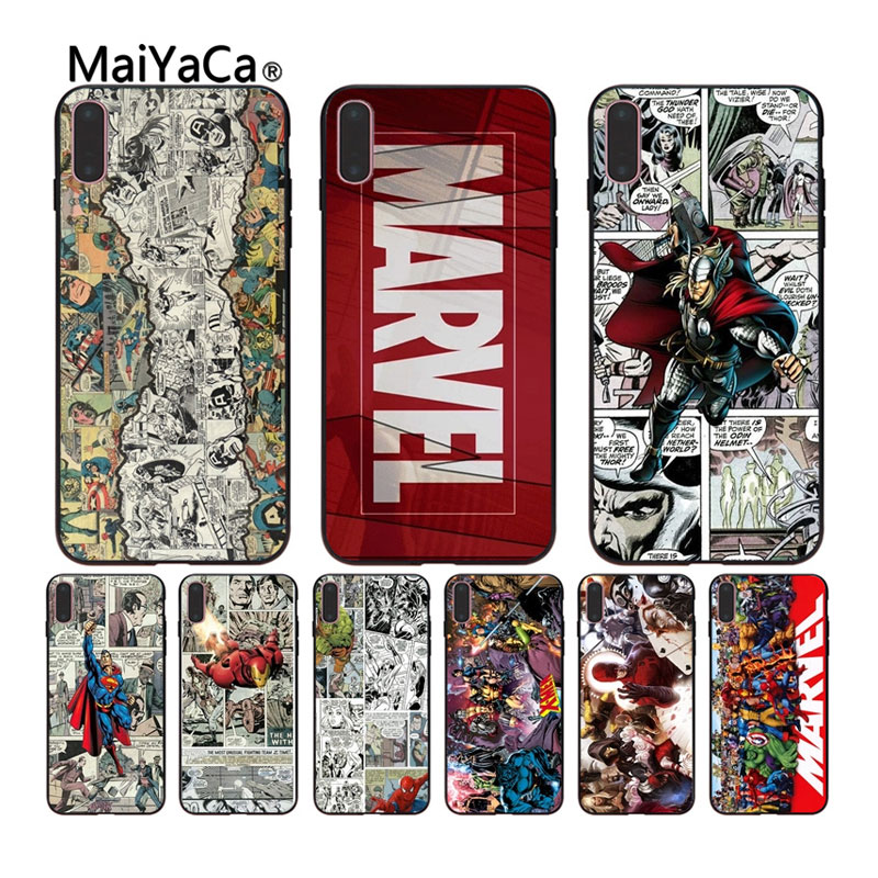 MaiYaCa case For iPhone X 8 8plus TV marvel comics Soft black cell phone shell For iPhone 7 6 6S Plus 5 5S SE XS XR XS MAX Cases iphone