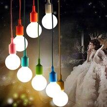 Moderna E27 sostenedor de La Lámpara Luminaria Luminaria Colgante Creativo Del Color Del Caramelo Colgante Hanglampen Droplight Lámparas de BRICOLAJE