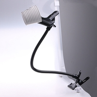 New C Clamp Holder 2 Clip Flex Arm For Reflector Light Stand Background
