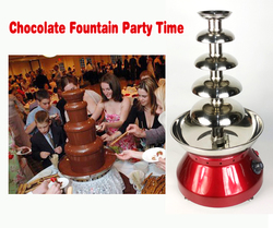 New 5 Layers Chocolate Fountain Diameter 33cm Stainless Steel Fondue Fountain Party Hotel Cafeteria Commercial Use 230W