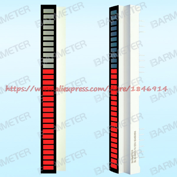 BL30-6605S The 30 Section 66mm Length The Red LED Light Beam Display Device