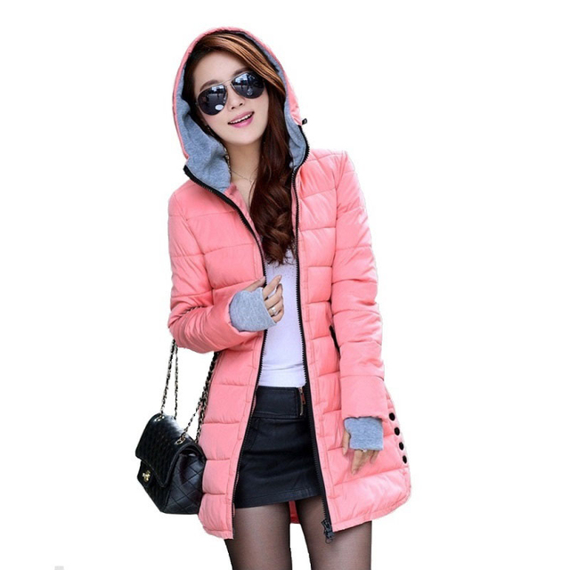Women's padded coat 2016 Winter jacket Women Long Down Cotton  Women's jackets winter jackets and raincoats Plus Size