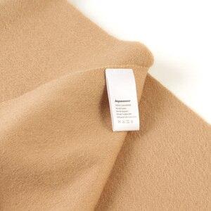 Image 5 - Bufandas de Cachemira de 100% liso para mujer, pañuelo grueso y cálido con borlas, para invierno, gran oferta