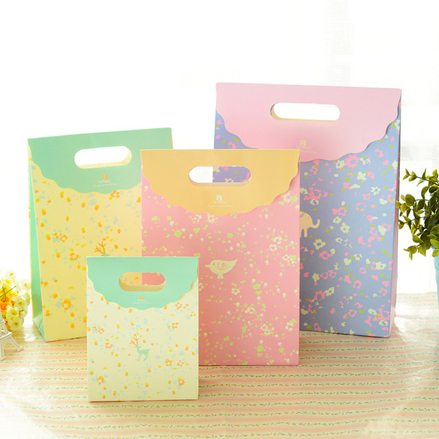 Aliexpress.com : Buy 2016 Exquisite Color Printing Cute Paper Bags ...