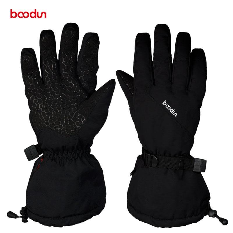 Boodun Winter Warm Cycling Gloves Men Women Outdoor Sports Non Slip Gloves Snowboard Snowmobile Skiing Riding Waterproof Glove