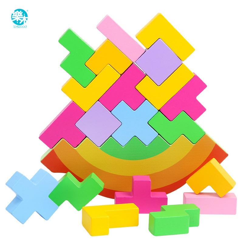Juguete para bebé, bloques de madera, equilibrio, Tetris, bloques para cortar, juego de mesa para bebé, desarrollo de cerebro, juguetes educativos para bebés, regalos para niños