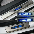 For Chevrolet Chevy Cruze led stainless steel scuff plate led door sill 4pcs/set car accessories