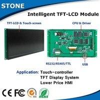 Mejor Módulo LCD TFT Industrial de 4 3 pulgadas con interfaz RS232 y pantalla táctil