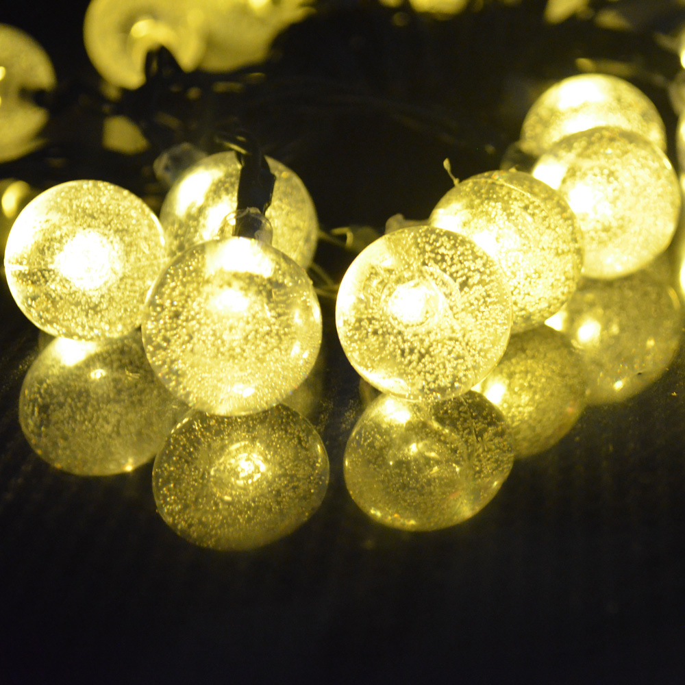 Solar Warm White Party Decoration Fairy Lights Ball String Lights Outdoor Garden Lawn Solar Lights WaterProof 30 LED