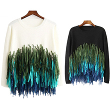 In Vogue Colorful Tassel O Neck Long Sleeve Women Sweaters And Pullovers 2016 Autumn Knitted Pull Femme Cheap Jumper Knitwear