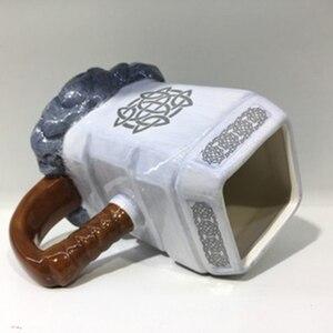 Image 4 - RUIDA Marvel thor coffee mugs ceramic hammer shaped cups and mugs large capacity mark creative drinkware ST211